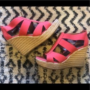 Coral MODA wedges!